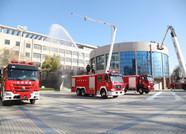 滨州职业学院举行冬季消防实战演练