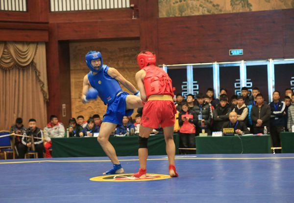 第三届山东省武术大会散打冠军赛开赛 140名选手擂台争霸