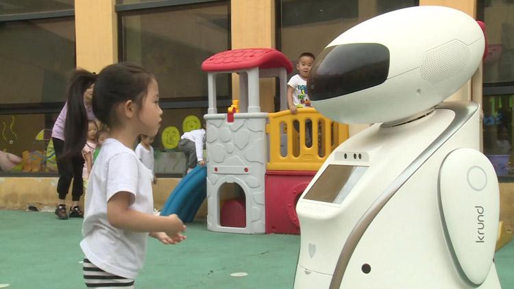 38秒丨涨见识!山东这款幼儿园陪伴机器人亮相互联网大会
