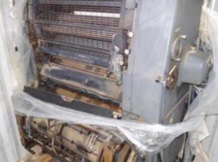 青岛一公司买二手德国产胶印机 黎巴嫩发来货竟是这样的