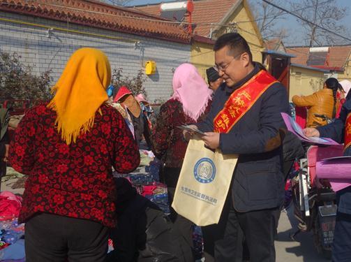 东营市直驻大码头镇帮扶工作组联合组织开展普法宣传