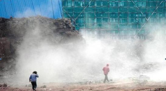扬尘污染严重 济南高新区汉峪片区三地块项目被责令停工