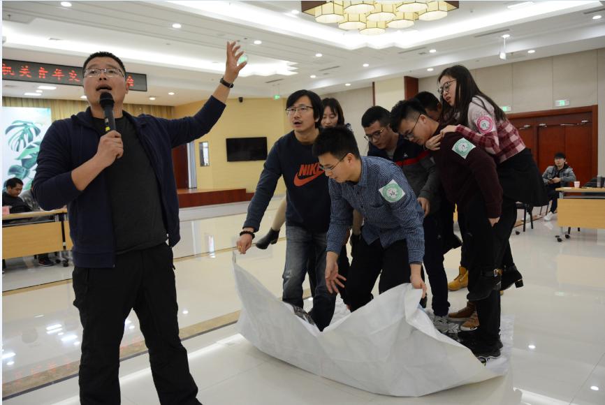 团队作战嗨翻天 山东省直单身青年相约训练营寻缘分
