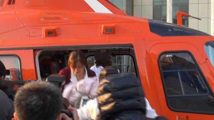 """""""空中120""""紧急救助 日照早产儿手术成功病情稳定"""