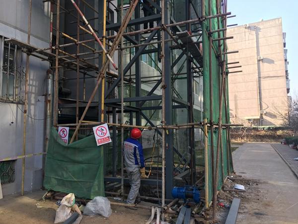 济南老楼加装电梯试点进行中 首批最快下月中旬完工投用