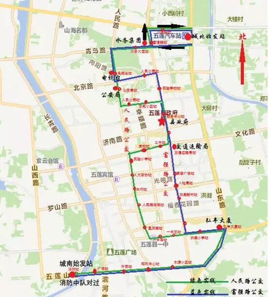 日照五莲新开通两条循环公交专线 试运行期间免费