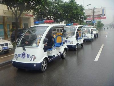 枣庄山亭10辆电动巡逻执法车上岗 用于城管巡逻执法