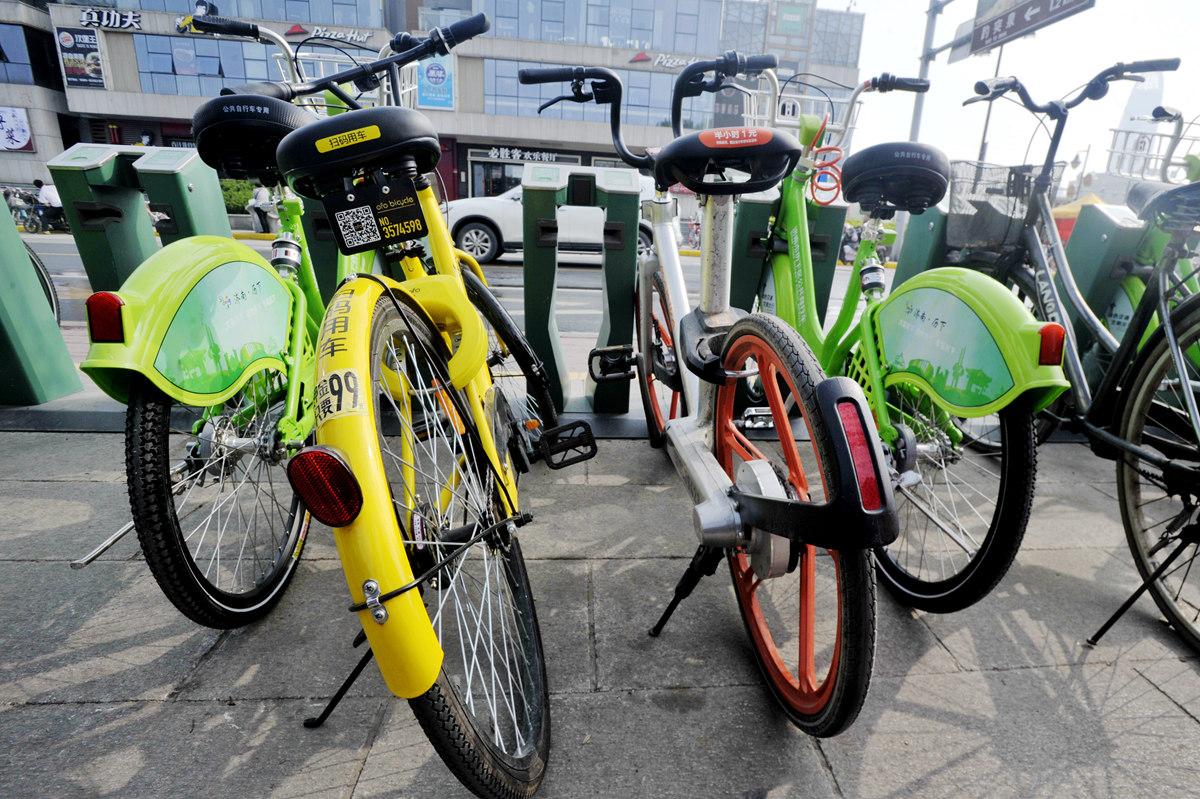 """济南共享单车家族再添""""小绿车"""" 第一个小时免费骑"""