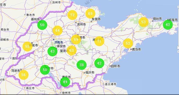 海丽气象吧丨山东17市空气质量优 鲁南有小到中雪局部大雪