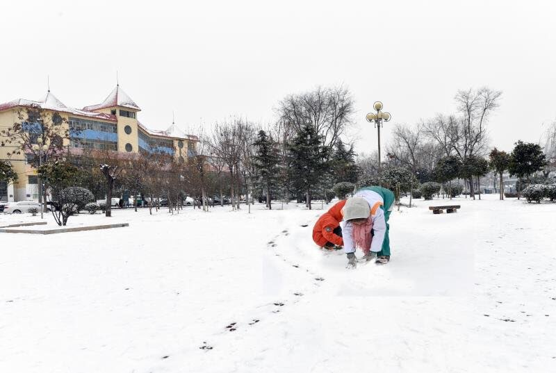 海丽气象吧|菏泽迎2018年首场降雪 全市普降中到大雪