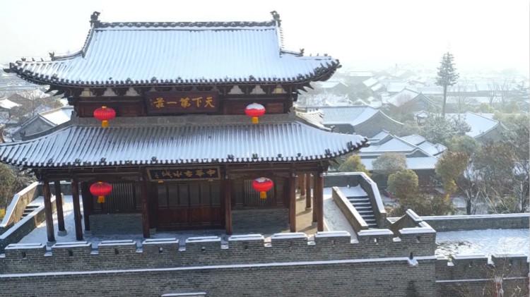 65秒|宛在画中游,快来欣赏台儿庄古城雪后初霁的绝美景致