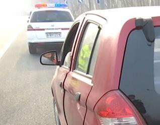 41秒丨太危险!德州无证女司机怀抱孩子开无牌电动轿车