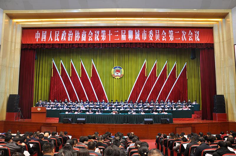聊城市政协十三届二次会议隆重开幕