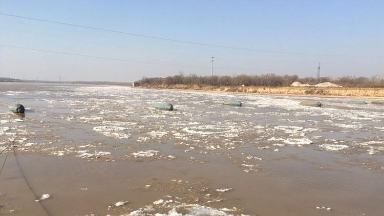 黄河济南段进入凌汛期 河段内6座浮桥全部拆除