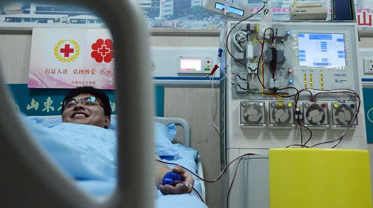 """""""我愿意捐献""""济南第50例造血干细胞捐献志愿者诞生"""