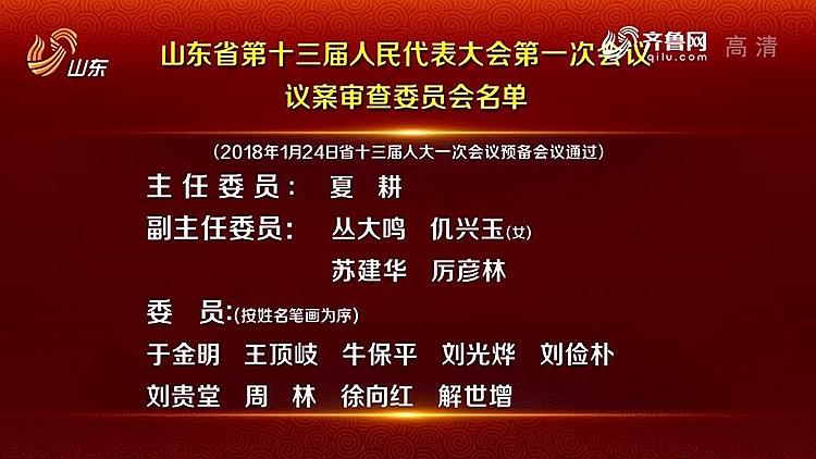 省十三届人大一次会议议案审查委员会名单