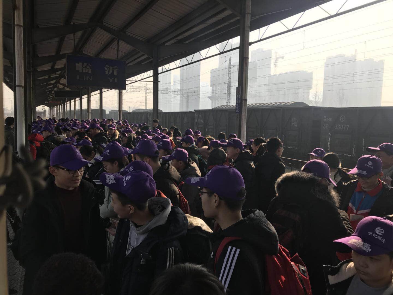 春运首日临沂北站发送旅客1098人 广州、汉口方向票额紧张