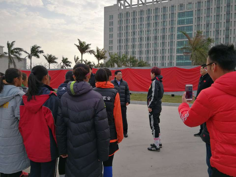 山东省体育局李政局长赴北海训练中心看望参加冬训各运动队