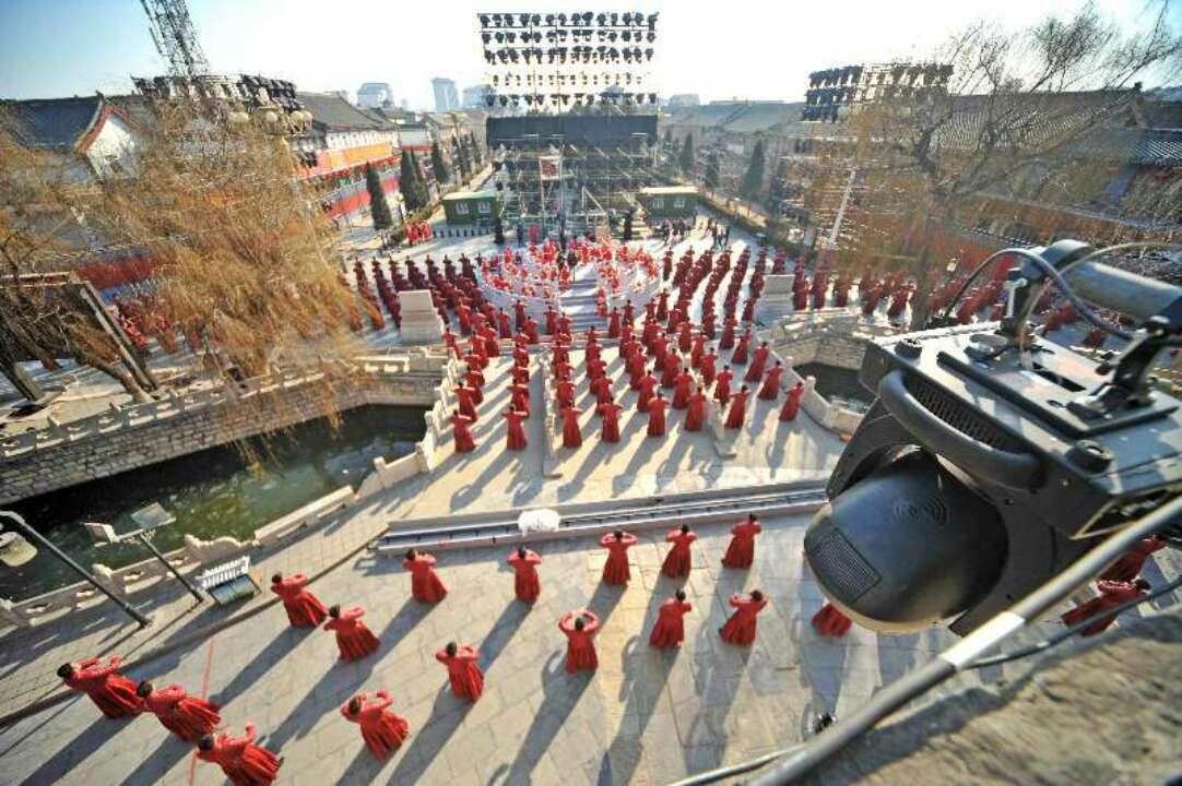 2018央视春节联欢晚会第一次联排,山东曲阜泰安分会场出色完成各项工作
