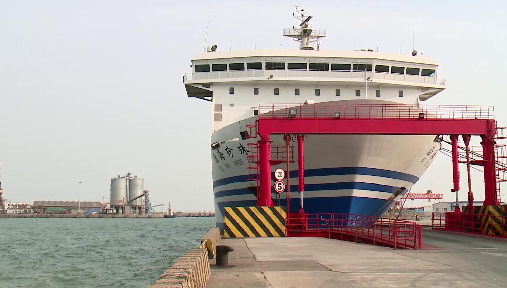 渤海海峡春运客船首次因大风停航
