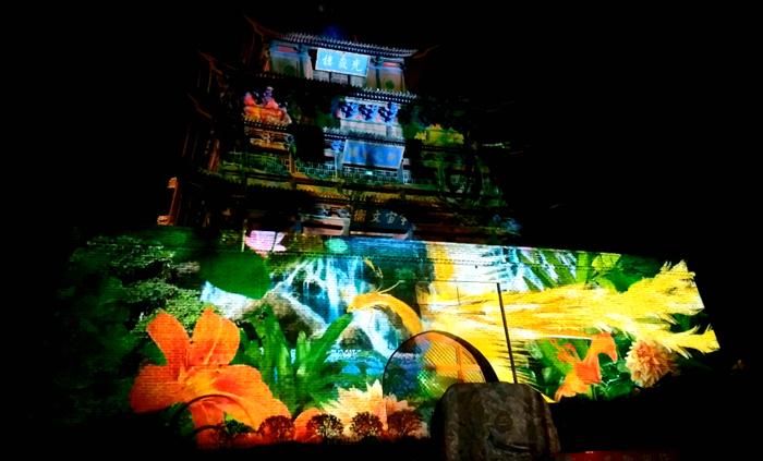 聊城古城裸眼3D灯光秀惊艳亮相!完整版视频抢先看
