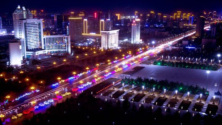 40秒丨潍坊,一个夜晚也能美出新高度的城市!