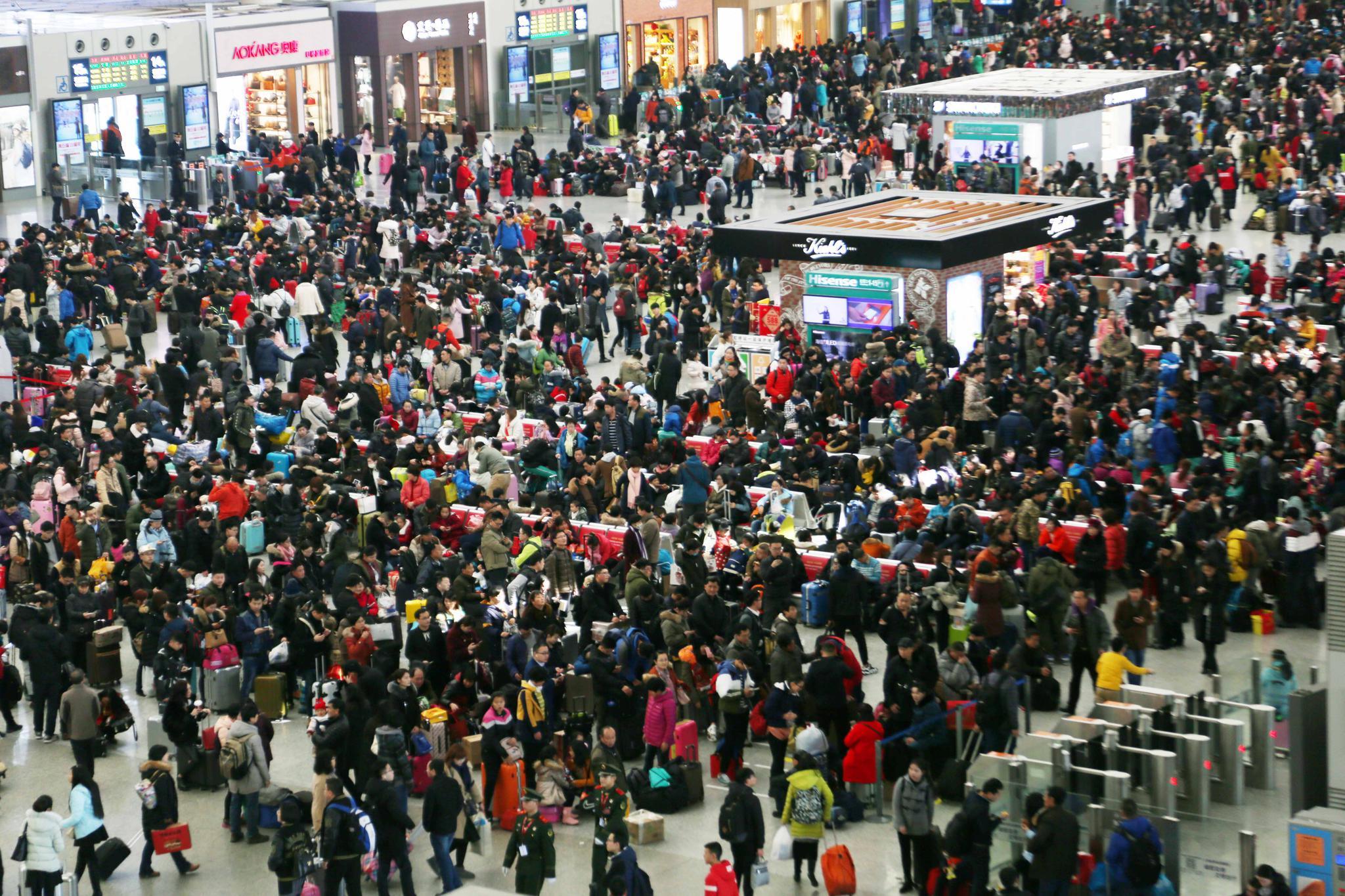 济南火车站今天预计发送旅客8.2万人 广州、昆明等方向票已售罄