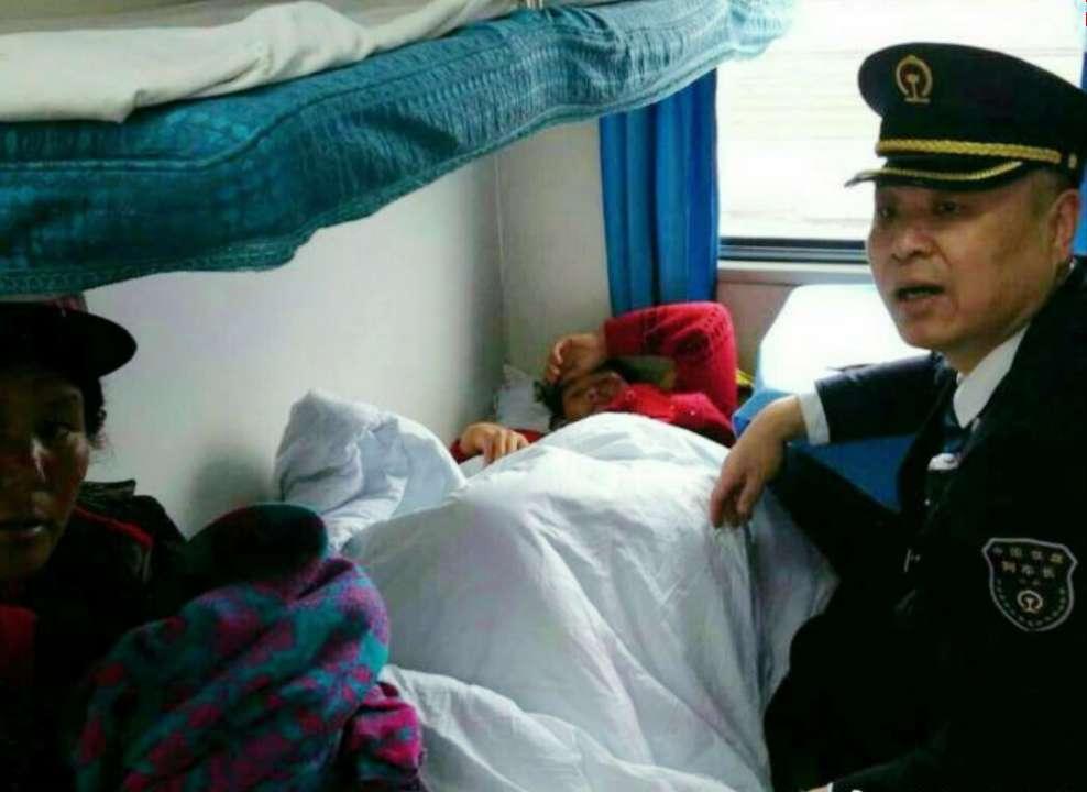 西安开往青岛列车上搭建紧急产房!女子顺产一名男婴