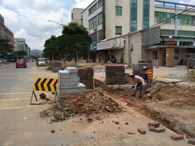 枣庄山亭府前中路正式升级改造 预计五月中旬结束