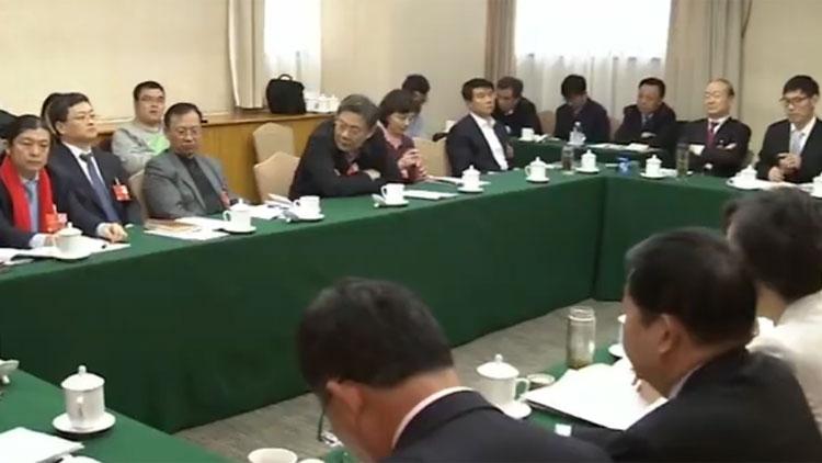 王文涛在山东代表团审议宪法修正案草案