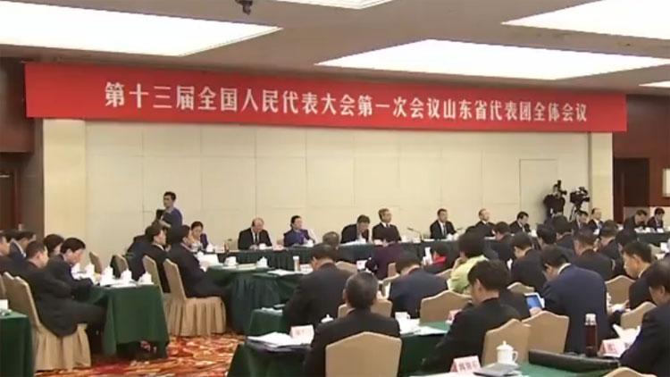 龚正在山东代表团审议宪法修正案草案