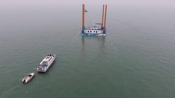 25秒 烟台市区内首个海洋牧场平台交付使用