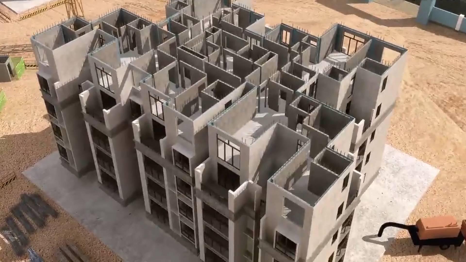 47秒丨工地现场搭积木?装配式建筑一个月建起办公楼