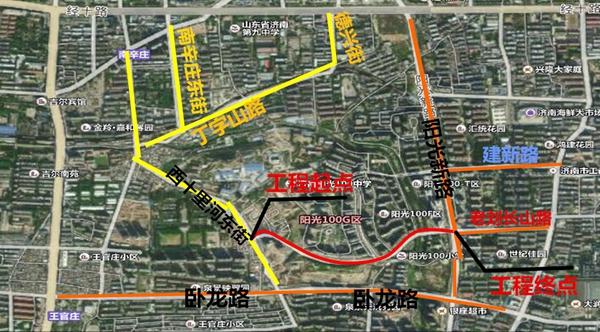 济南阳光100南侧道路建设18日开工 年底前竣工通车