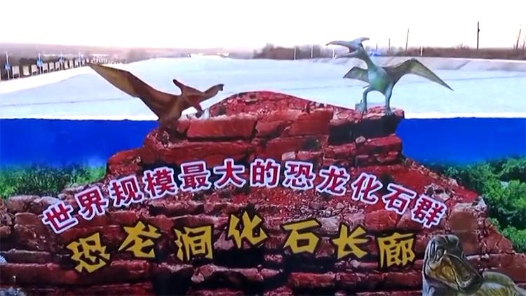"""97秒丨航拍诸城""""恐龙涧""""带你了解这里的恐龙文化"""
