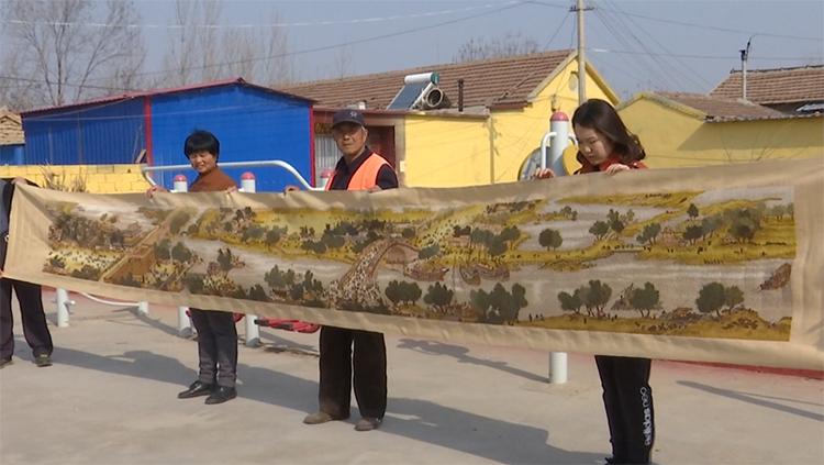 48秒丨用时5年 齐河巧手农妇绣成6米巨幅《清明上河图》