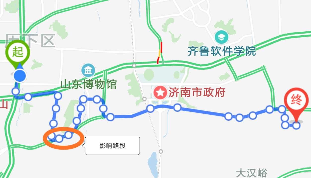 济南K131路3月22日起临时调整部分运行路段