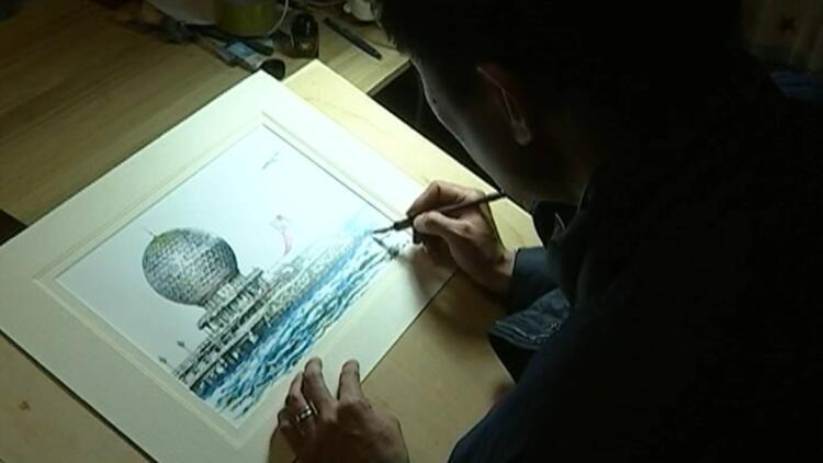 65秒丨他用钢笔将烟台画在纸上 希望更多人感受这城市之美