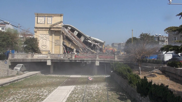 64秒丨济南兴济河商城正式开拆 预计20天完成拆违