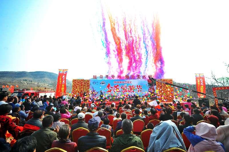 2018济宁泗水杏花旅游节开幕 花期将持续两周