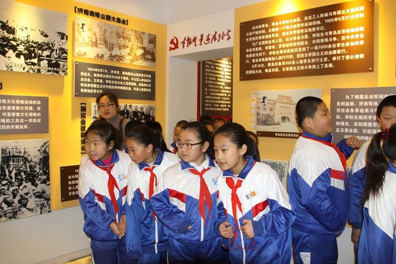 广饶县举行市县关心下一代教育基地揭牌仪式