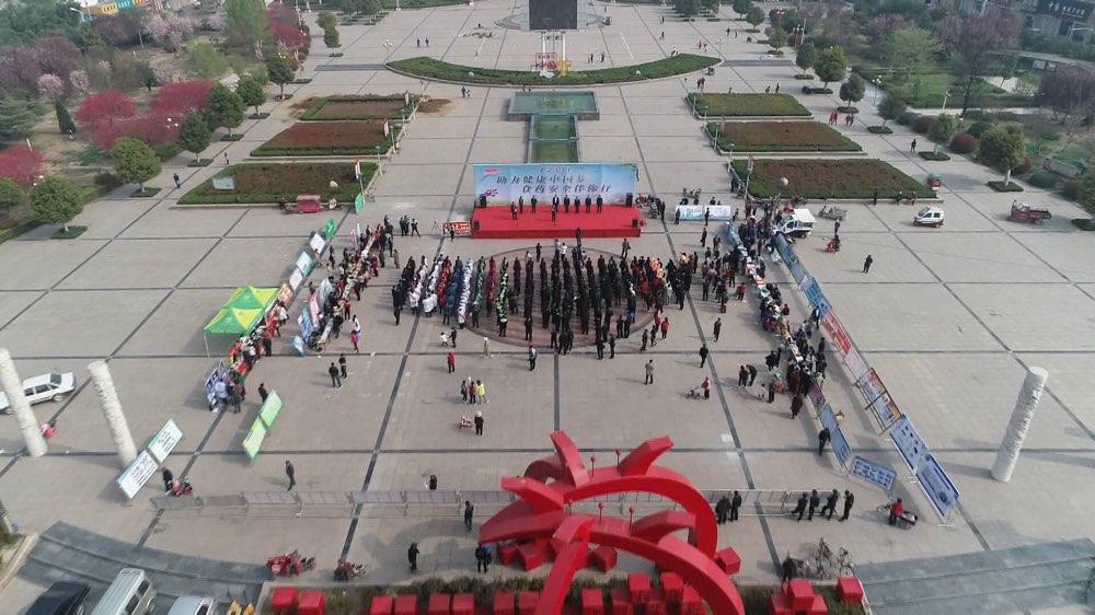 12331宣传日|枣庄向群众发放5000多份食品药品安全材料