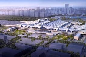 济青高铁红岛站迎关键节点 地铁8号线05工区封顶