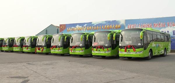 公共交通100%绿色化 长岛50辆新能源客车5月1日投用