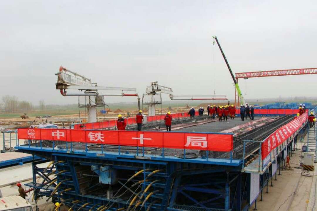 潍莱铁路建设最新进展! 莱西制梁场成功浇筑首榀箱梁