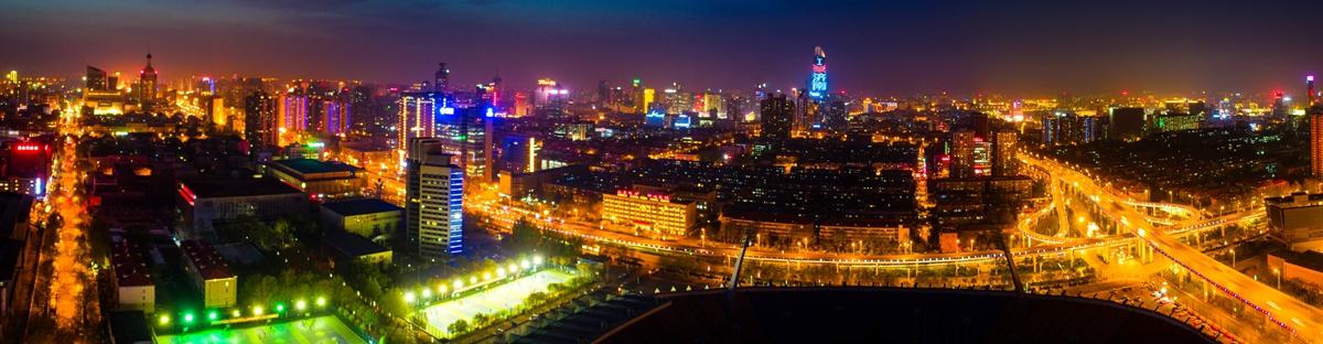 飞吧山东丨最新济南航拍! 泉城夜色竟如此迷人