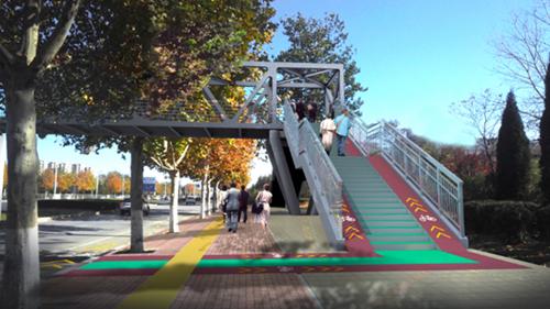 """探访济南最新改造过街天桥,改造工程原来还有这些""""高科技"""""""