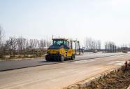 乳山世纪大道开始改造 期间半幅道路可双向通车