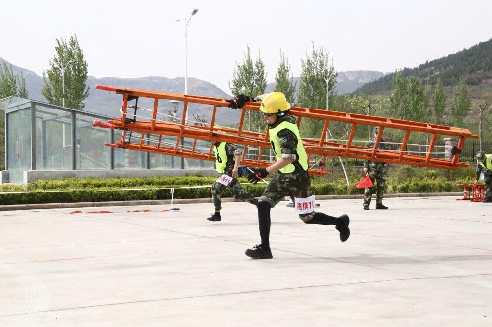 淄博消防荣获全省消防部队比武竞赛第二名