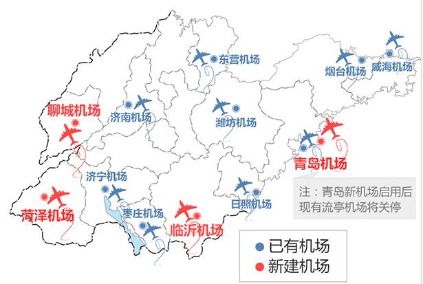 青岛新机场建成后,流亭机场确定关停!近期山东还将新建3座机场